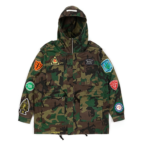 STIGMA스티그마 FAITH OVERSIZED FIELD JACKET CAMOUFLAGE