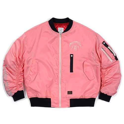 STIGMA스티그마 MASTERPIECE OVERSIZED MA-1 JACKET PINK