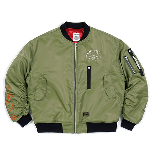STIGMA스티그마 MASTERPIECE OVERSIZED MA-1 JACKET KHAKI