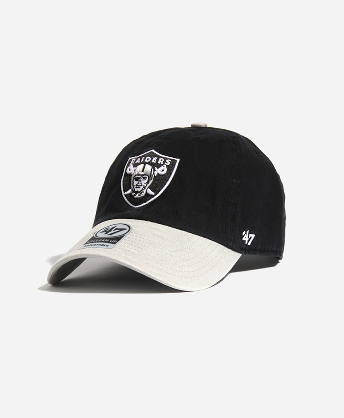 47 BRAND47BRAND NFL Clean Up Raiders Black/Grey