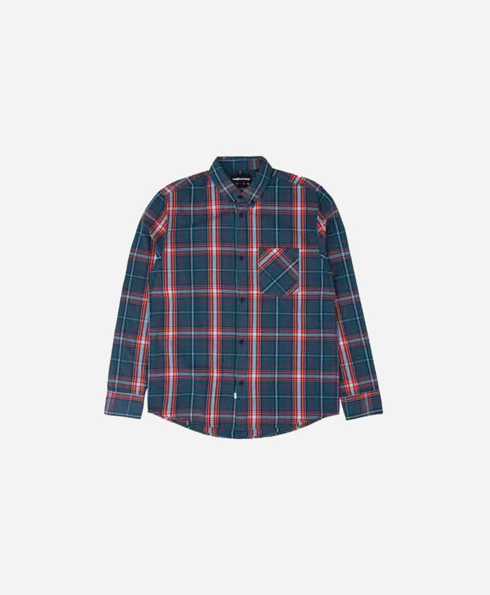 THEHUNDREDS더헌드레드_THE HUNDREDS Fremont LS Woven Blue