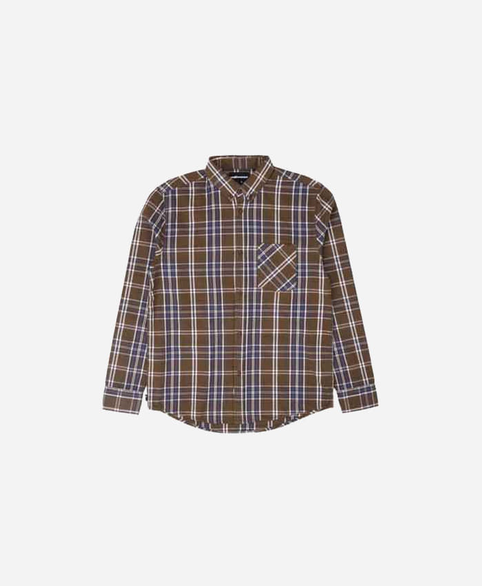 THEHUNDREDS더헌드레드_THE HUNDREDS Fremont LS Woven Brown