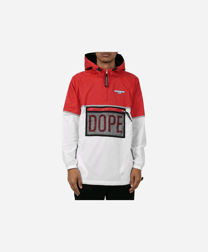 DOPE도프_DOPE Sierra Windbreaker Black/Red