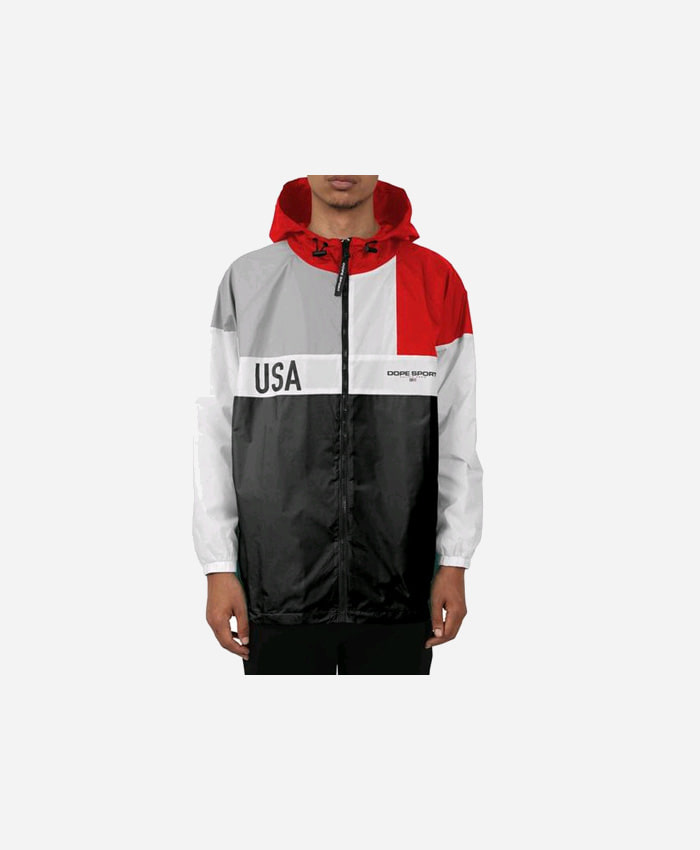 DOPE도프_DOPE Tahoe Windbreaker Black/Red