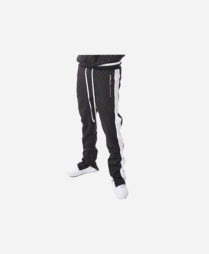 FNTY플라잉나인티_FNTY Satin checkerboard pants BLACK