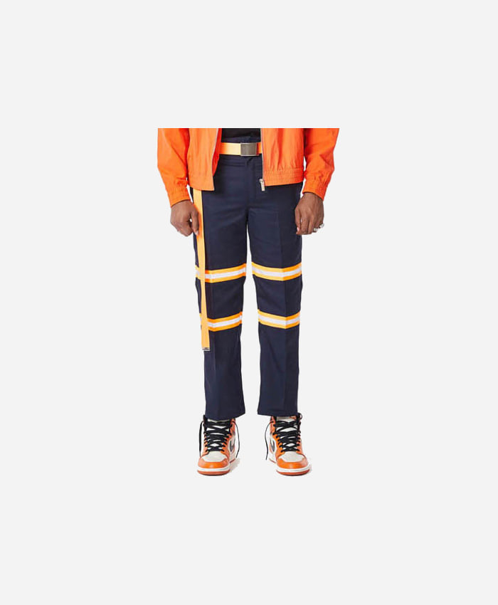 FNTY플라잉나인티_FNTY Reflection ribbon chino pants NAVY/ORANGE