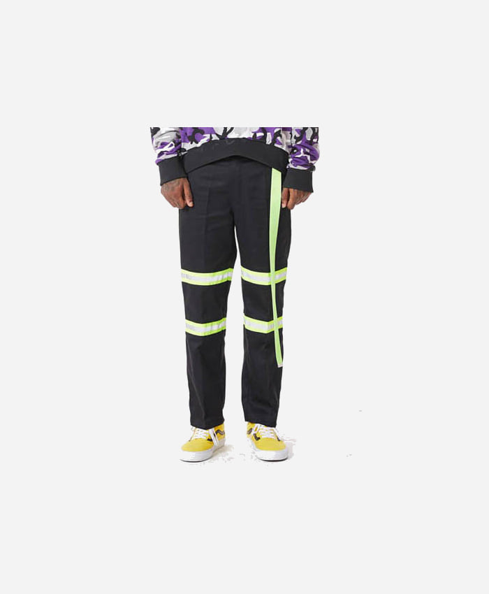 FNTY플라잉나인티_FNTY Reflection ribbon chino pants BLACK/GREEN