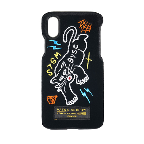스티그마BLACK PANTHER VELVET FABRIC CASE BLACK iPhone 8 / 8+ / X