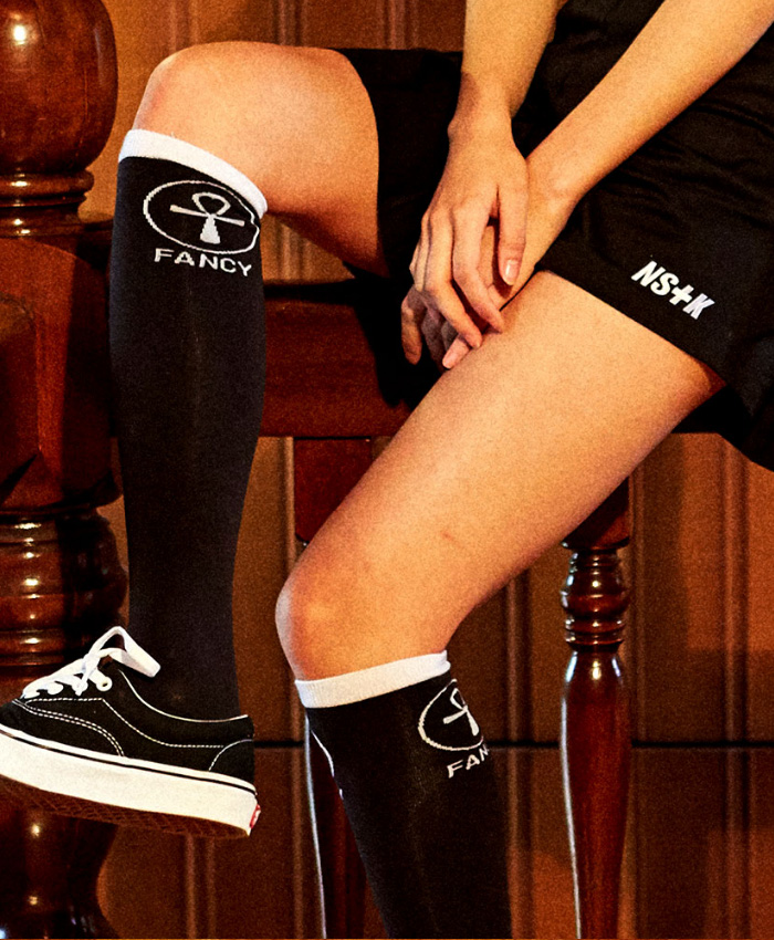 NASTY KICK네스티킥_[NSTK] NSTK S2 FANCY SKATE SOCKS (BLK)