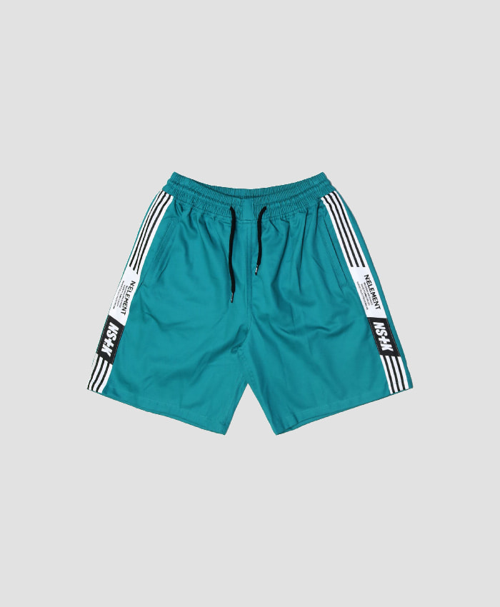 NASTY KICK네스티킥_[NSTK] NLMT LINE SHORT PANTS (GREEN)