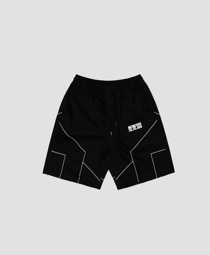 NASTY PALM네스티팜_[NYPM] DIMENSIONAL SHORT PANTS (BLK)