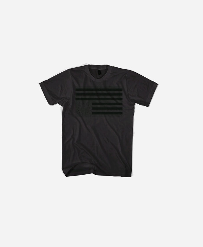 BLACKSCALE 블랙스케일_BLACKSCALE Rebel Flag T-Shirt Black