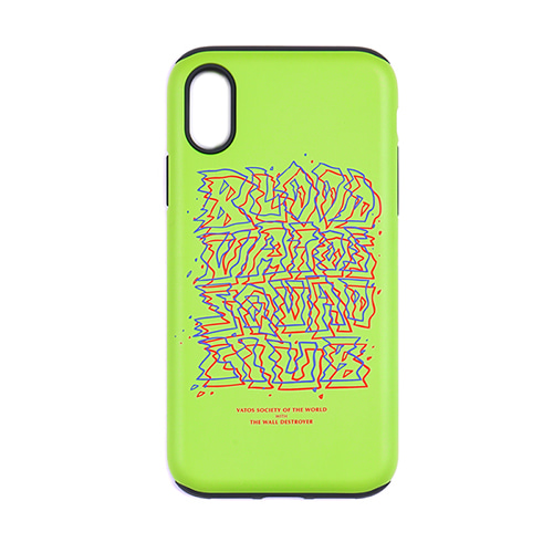 스티그마PHONE CASE PRIZM NEON GREEN iPHONE 8 / 8+ / X