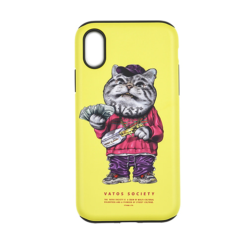 스티그마PHONE CASE CATSGANG YELLOW iPHONE 8 / 8+ / X