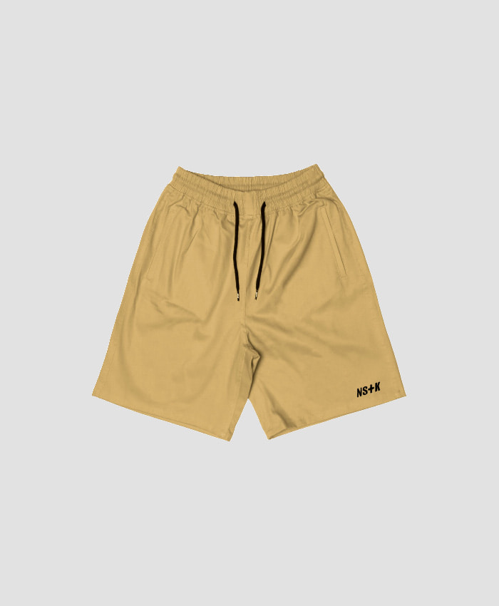 NASTY KICK네스티킥_[NSTK] EASY CODE 003 SHORT PANTS (BEIGE)