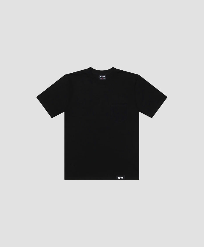 NASTY KICK네스티킥_[NSTK] EASY CODE 002 POCKET TEE (BLK)