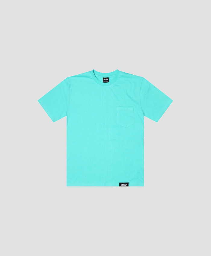 NASTY KICK네스티킥_[NSTK] EASY CODE 002 POCKET TEE (AQUA)