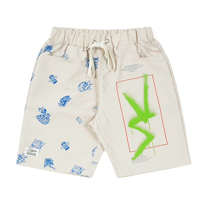 스티그마VS PATTERN SHORT PANTS BEIGE
