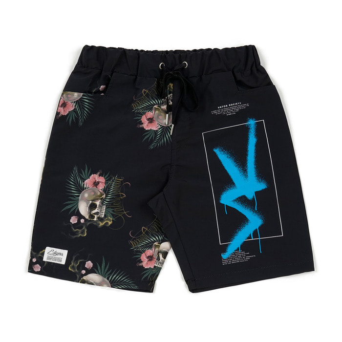 스티그마VS PATTERN SHORT PANTS BLACK