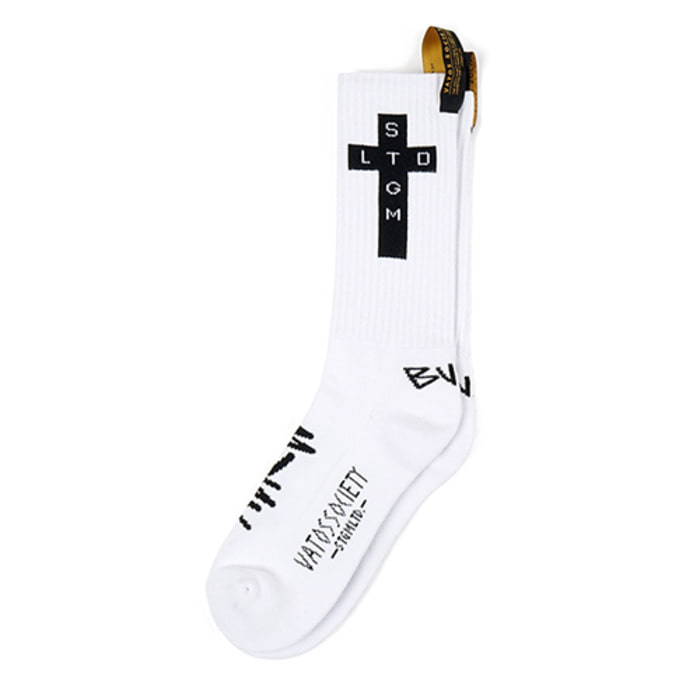 스티그마CROSS SKATE SOCKS WHITE