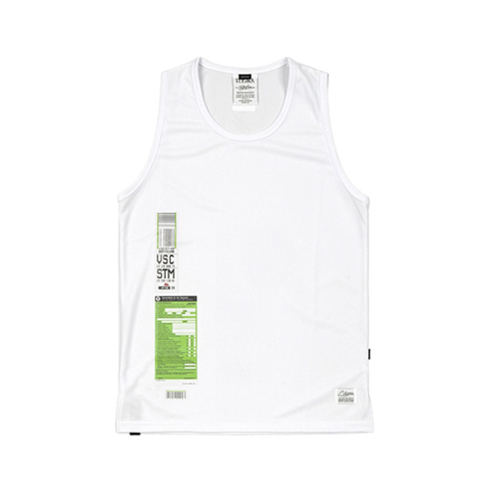 스티그마IMMIGRATION COOLON SLEEVELESS WHITE