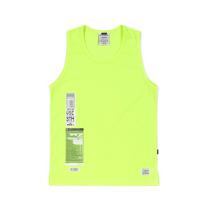 스티그마IMMIGRATION COOLON SLEEVELESS NEON GREEN