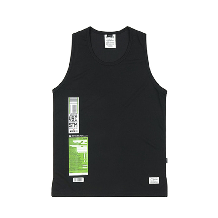 스티그마IMMIGRATION COOLON SLEEVELESS BLACK