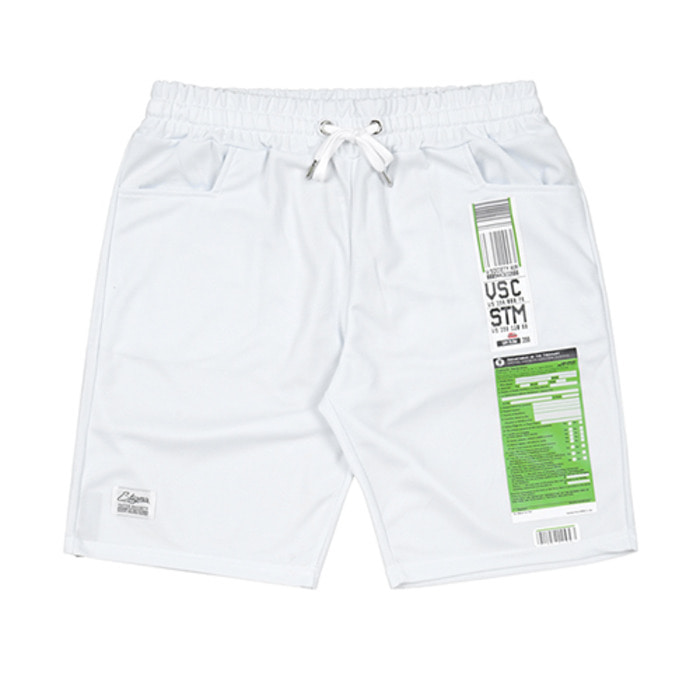 스티그마IMMIGRATION COOLON SHORT PANTS WHITE