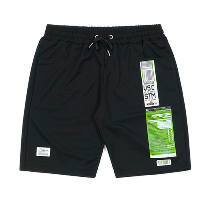 스티그마IMMIGRATION COOLON SHORT PANTS BLACK