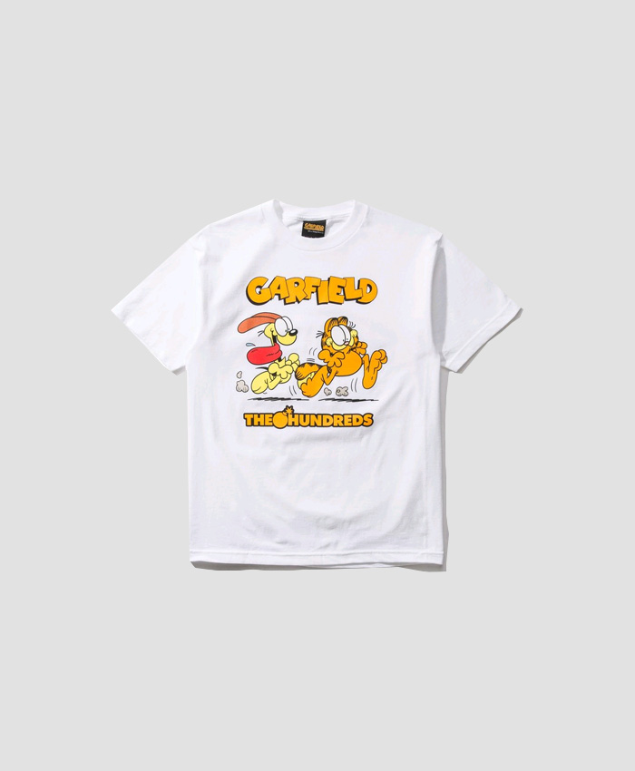 THEHUNDREDS더헌드레드_THE HUNDREDS X Garfield Chase T-Shirt WHITE