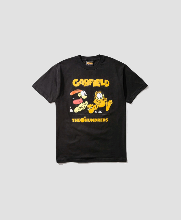 THEHUNDREDS더헌드레드_THE HUNDREDS X Garfield Chase T-Shirt BLACK
