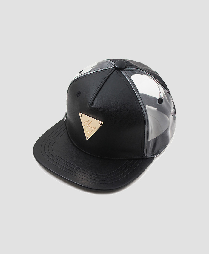 HATER헤이터_HATER Leather & PVC Snapback Black