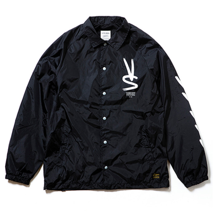 스티그마PAINT OVERSIZED COACH JACKET BLACK