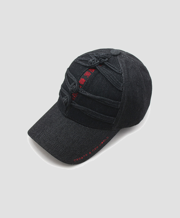HATER헤이터_HATER Chinese Knot Cap Black Denim