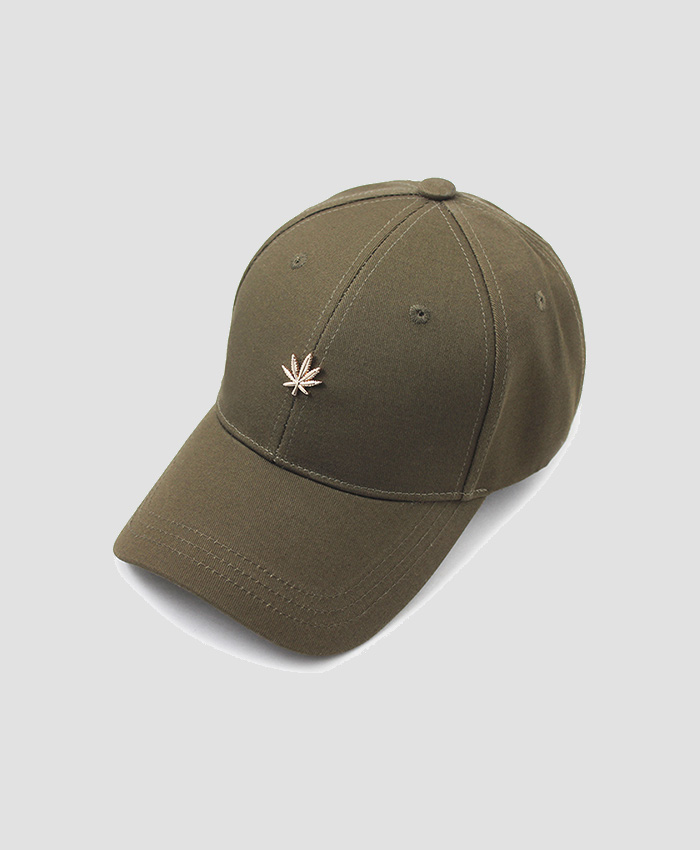 HATER헤이터_HATER Gold Cannabis Cap Dark Green