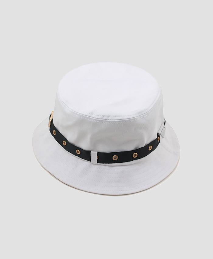 HATER헤이터_HATER Eyelet Bucket Hat White