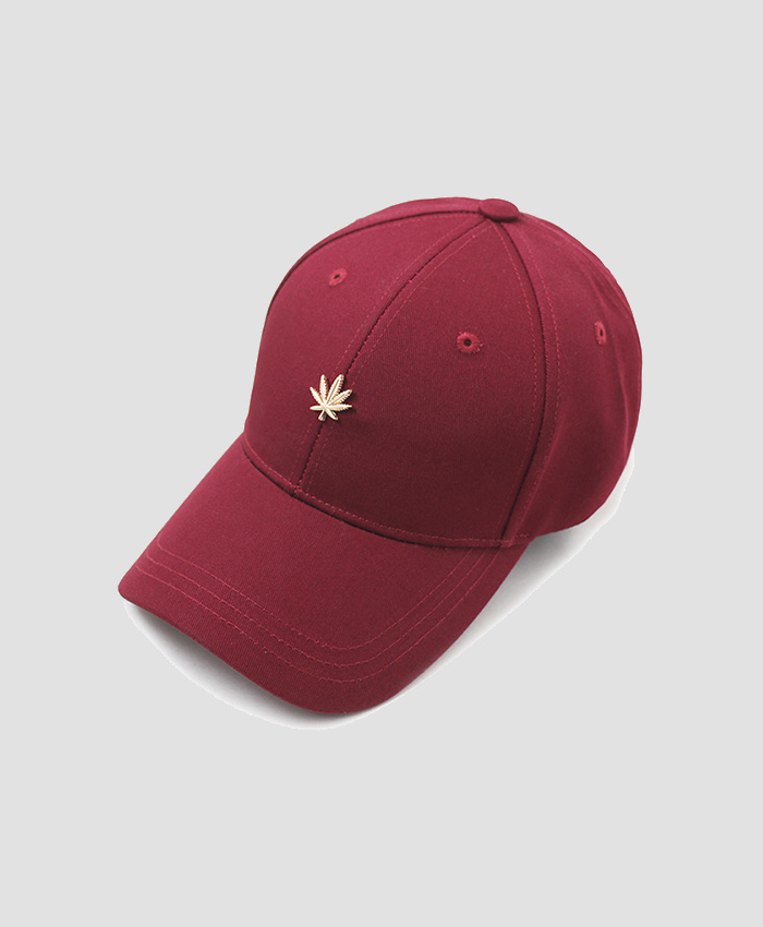 HATER헤이터_HATER Gold Cannabis Cap Burgundy