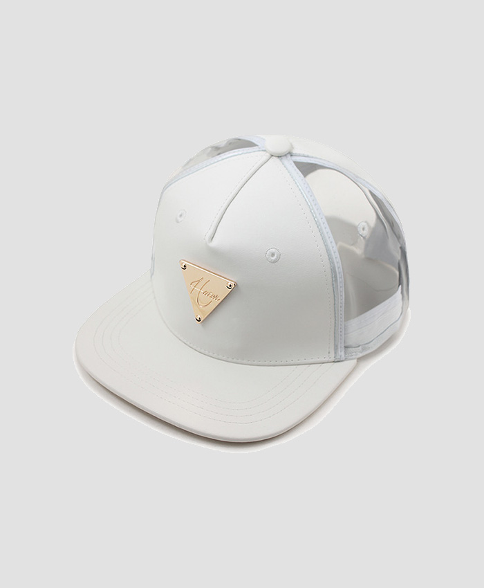 HATER헤이터_HATER Leather & PVC Snapback White