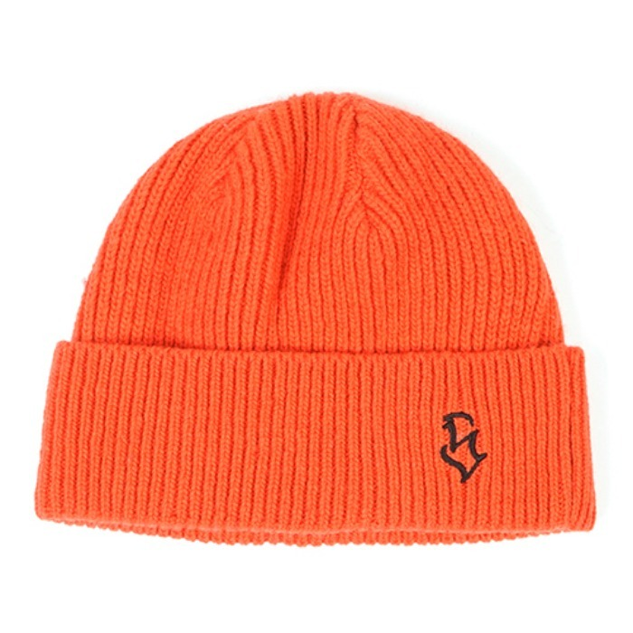 스티그마S - LOGO WOOL SHORT BEANIE ORANGE