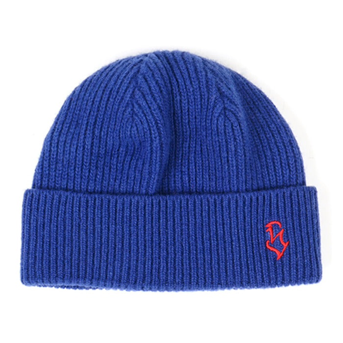 스티그마S - LOGO WOOL SHORT BEANIE BLUE