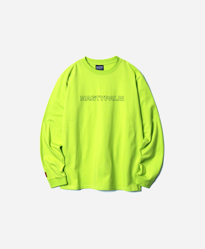 NASTYPALM네스티팜_[NP] NYPM LONGSLEEVE NEON GREEN (NP18A061H)