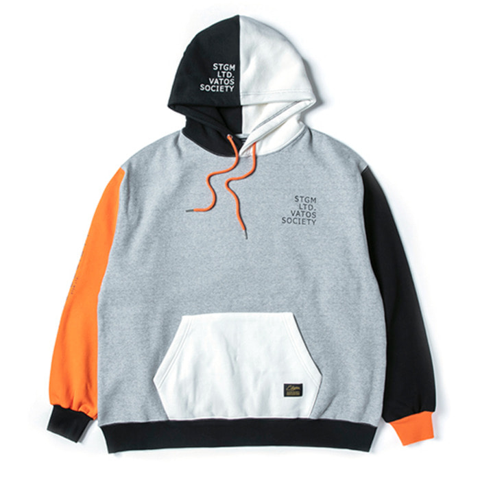 스티그마MULTIPLE OVERSIZED HEAVY SWEAT HOODIE ORANGE