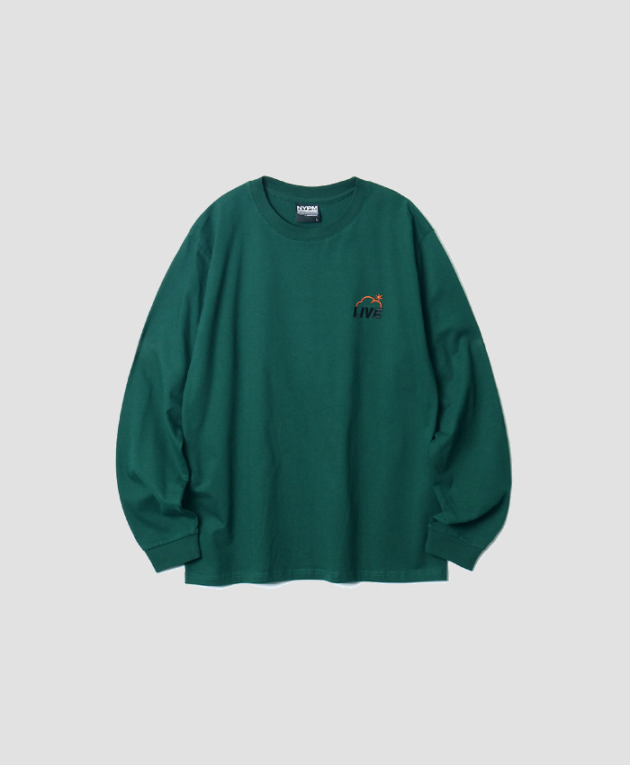 NASTYPALM네스티팜_[NP] ROAD SIGN LONGSLEEVE GREEN (NP18A060H)
