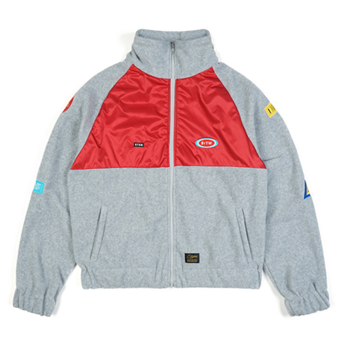 스티그마STGM OVERSIZED FLEECE TRACK JACKET GREY