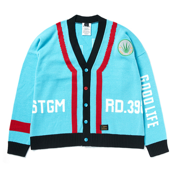 스티그마GOOD LIFE OVERSIZED WOOL CARDIGAN SKYBLUE