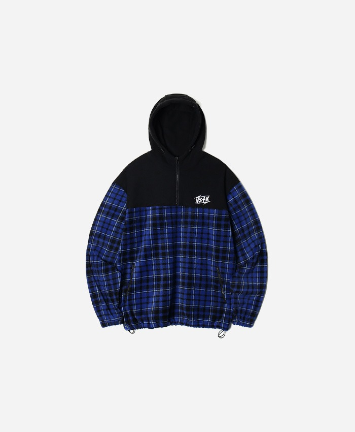NASTY KICK네스티킥_[NK] ECHO FLEECE ANORAK BLUE (NK18A011H)