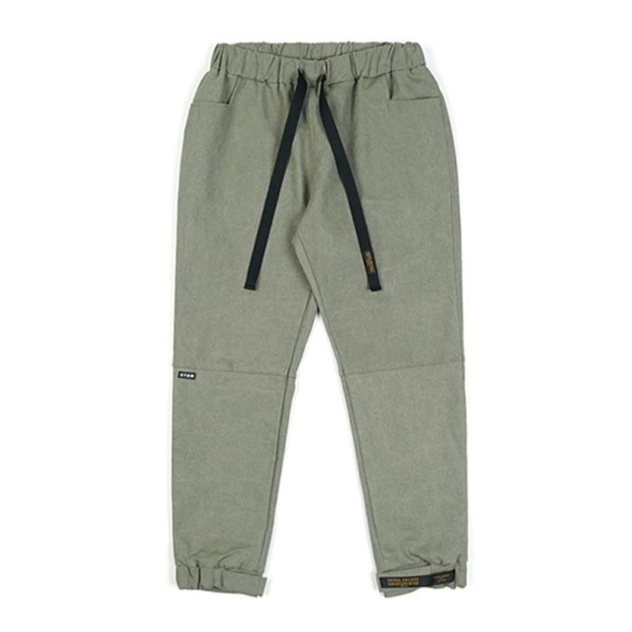 스티그마STGM OXFORD WIDE JOGGER PANTS OLIVE