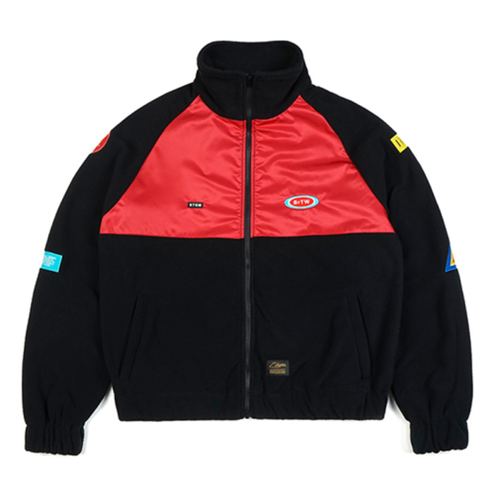 스티그마STGM OVERSIZED FLEECE TRACK JACKET BLACK