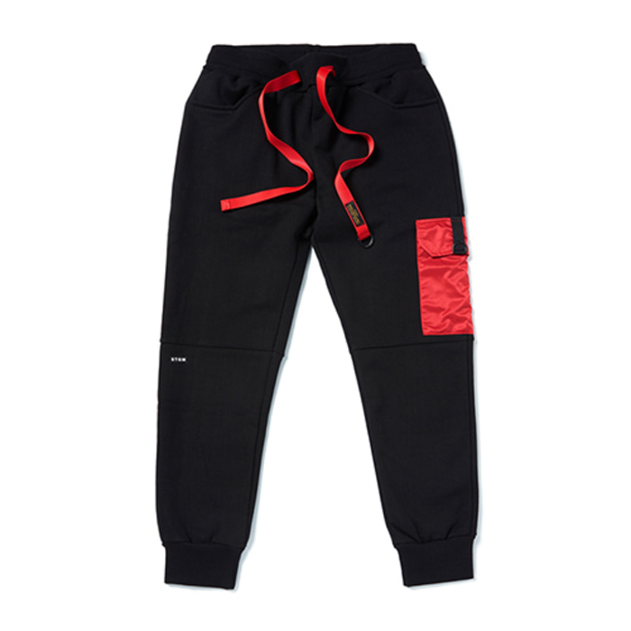 스티그마STGM POCKET HEAVY SWEAT JOGGER PANTS BLACK