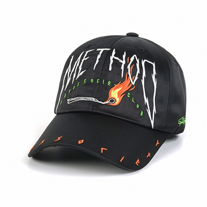 스티그마METHOD SATIN BASEBALL CAP BLACK